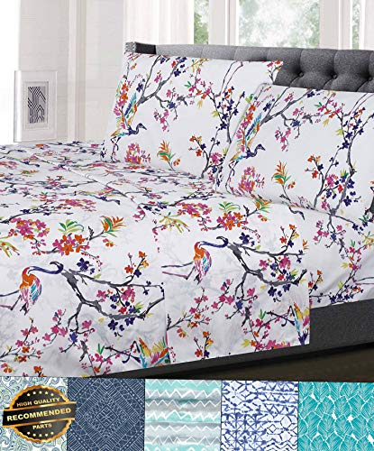 Gatton New Premium 1500 Supreme Collection Patterns 4 Piece Sheet Sets Floral, Geometric - 8 Styles | LINENIENHM-182011876 Full