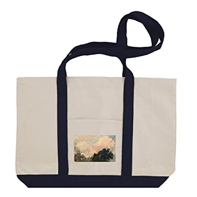A Cloud Study, Sunset (Constable) Cotton Canvas Boat Tote Bag Tote