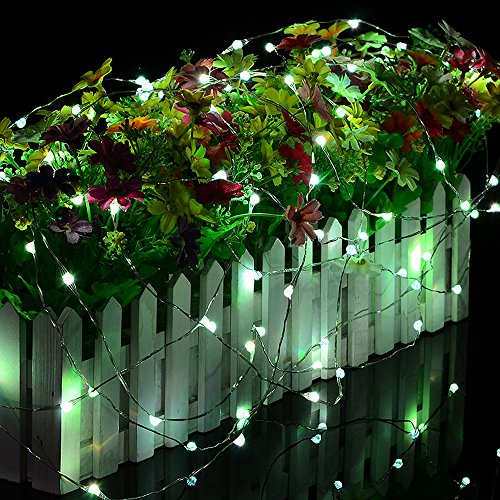 LED Fairy Lights 33ft 100 LEDs Battery Operated String Lights Waterproof Multi Color Changing, Firefly Lights with Remote Control for Indoor,Outdoor,Bedroom,Patio,Wedding,Party Christmas Decorations by Omika (Image #2)