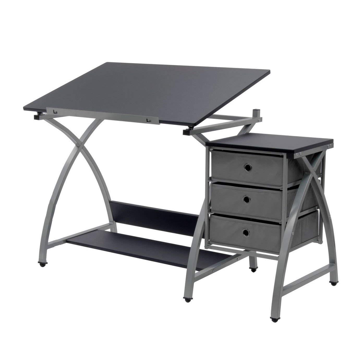 Studio Designs Laminate Craft Table Comet Center with Stool, Black (2 Pack) by STUDIO DESIGNS INSPIRING CREATIVITY WWW.STUDIODESIGNS.COM (Image #4)
