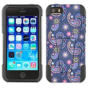 phone covers Apple iPhone 5c Hybrid Case Paisley Pastel on Cyan Blue 2 Piece Style Silicone Case Cover with Stand for Apple iPhone 5c and 5c WANGJING JINDA