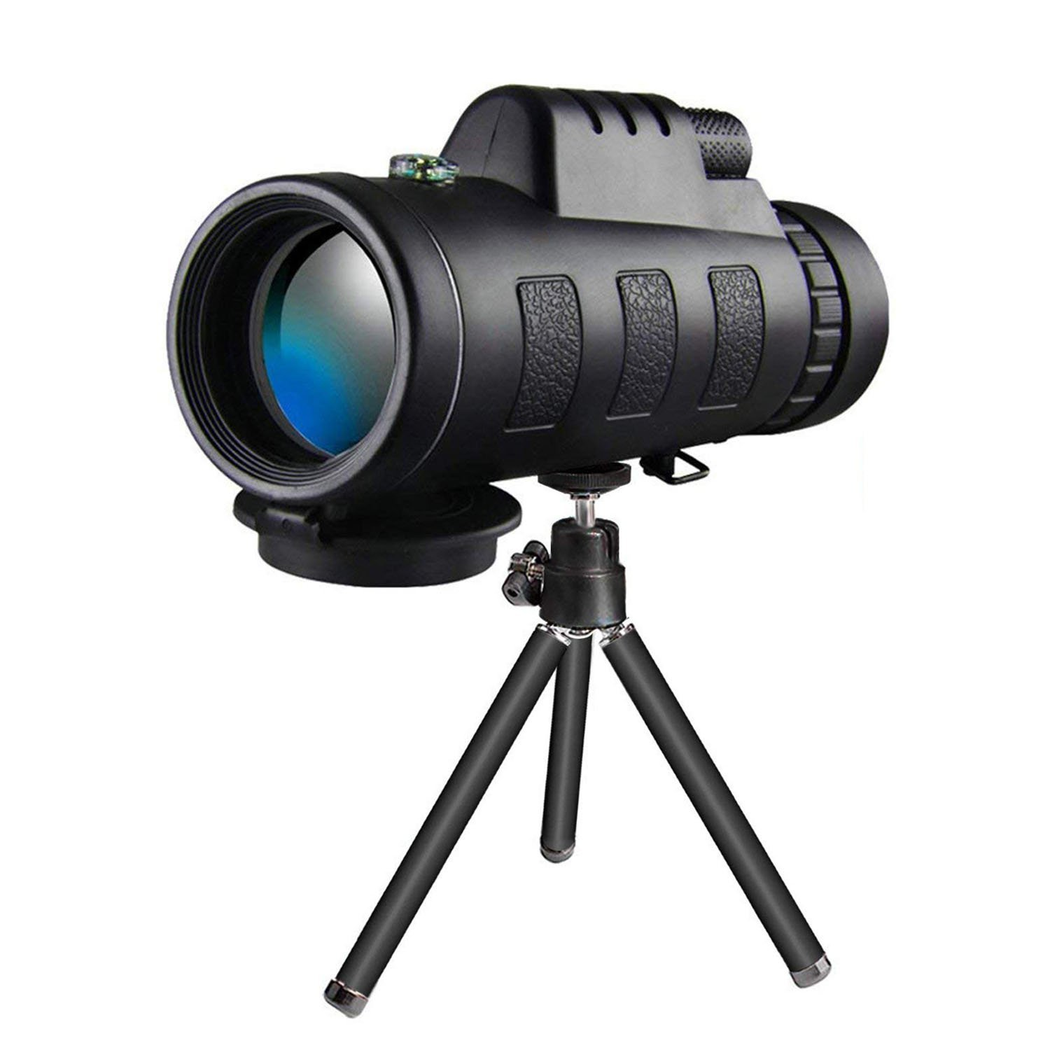 MJDUO Monocular Telescope -12X50 High Power Prism Monocular and Quick Smartphone Holder Hunting Sports Outdoors Wildlife Travel Monoculars Telescope Best Gift for Adults and Kids