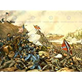 WAR AMERICAN CIVIL BATTLE FRANKLIN USA UNION CONFEDERATE NEW FINE ART PRINT POSTER PICTURE 30x40 CMS CC5657