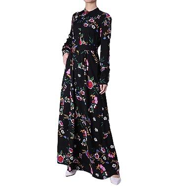 Ingsist Arabische Kleidung gedruckt eleganten muslimischen langen ...