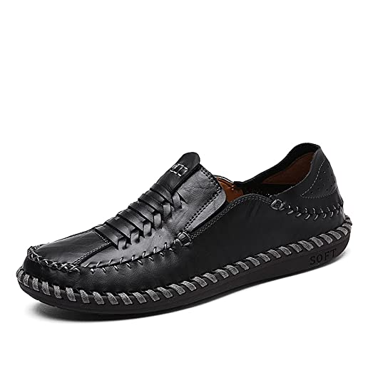 Breathable Casual Shoes Men's Leather Loafers Prevent Beriberi