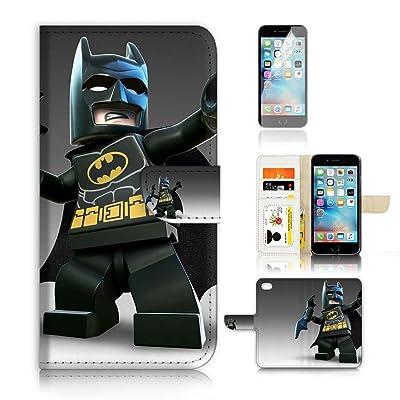 (para iphone 8plus) funda tipo cartera para carcasa de silicona y protector de pantalla Paquete. a20068Batman Super Hero