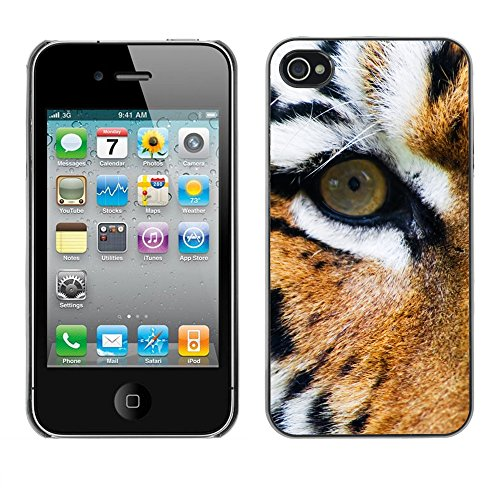 Premio Sottile Slim Cassa Custodia Case Cover Shell // V00002223 tigre // Apple iPhone 4 4S 4G