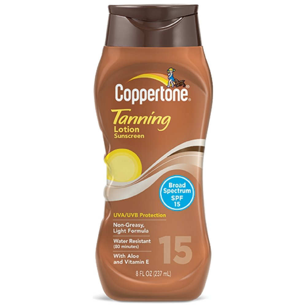 Coppertone Tanning Lotion SPF 15 8 oz (Pack of 6) by Coppertone (Image #1)