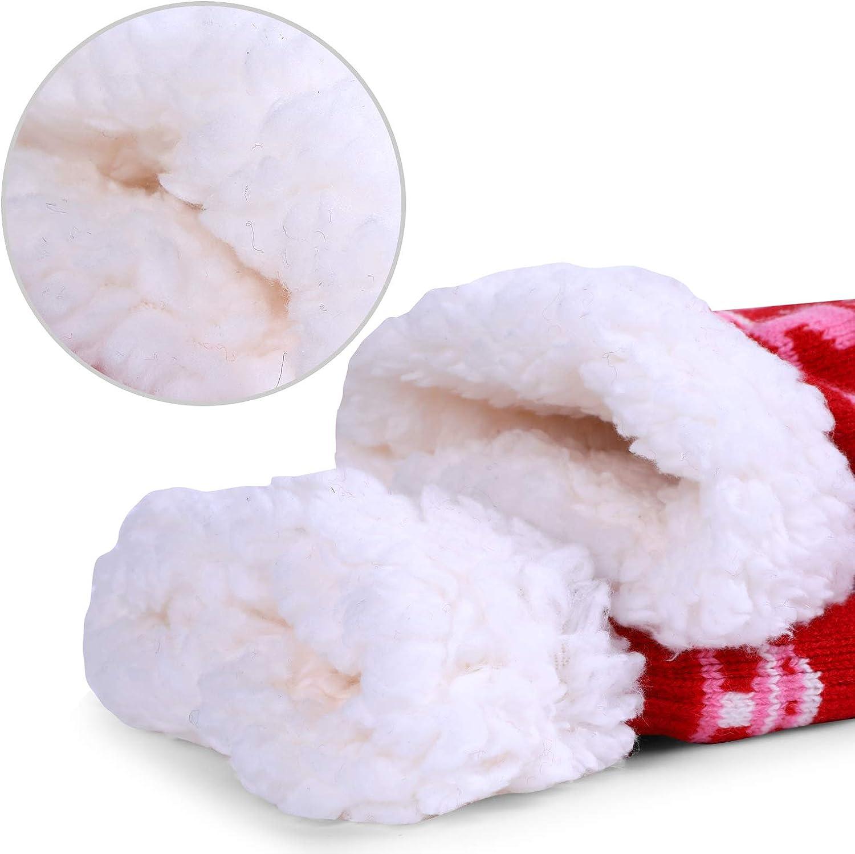 Cute Warm Cosy Non-slip Winter 2.5-5 Ladies Fluffy Slipper Fleece Socks