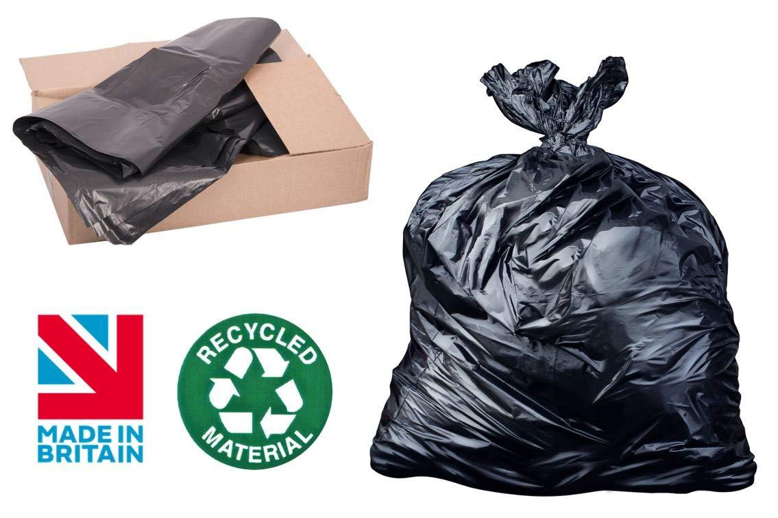200 bolsas de basura recicladas MD negras, bolsas de basura ...