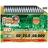 Holiday Bright Lights LEDBX-T550-WW Christmas Hanging T5 50-Light LED Light Set, Warm White