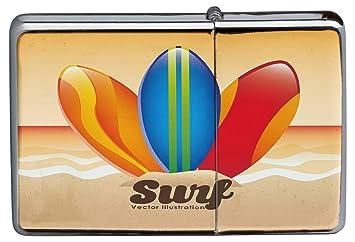 Encendedor Cromo De Gasolina Recargable Nostálgico tablas de surf