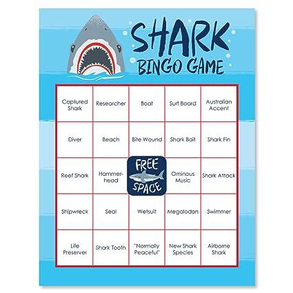 Amazon.com  Big Dot of Happiness Shark Zone - Jawsome Shark Party ... 352b30427