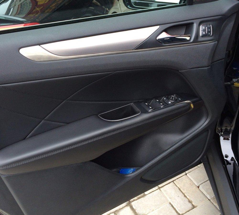 Cosilee 2pcs Front Side Door Armrest Storage Box Holder Glove Box Organizer For Lincoln MKC 2015 2016 2017 2018