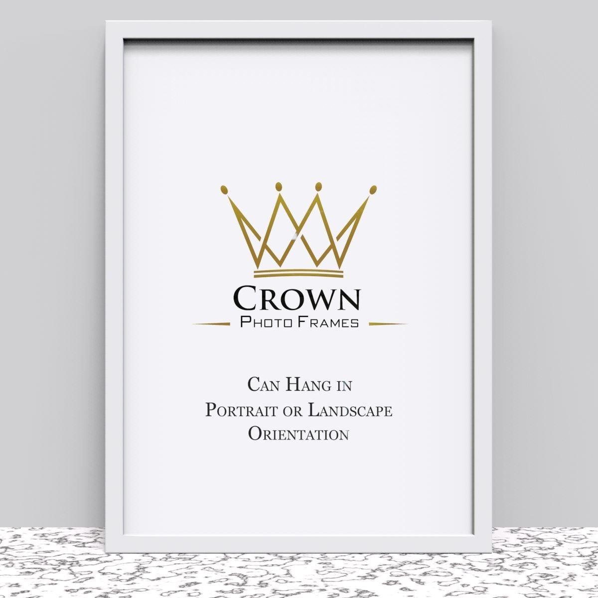 Crown Oak Photo Frame for A1 59.4 x 84.1 cm (23.4x33.1 Inches) Picture Photo Poster, Hang on wall in both Landscape and Portrait Crown Photo Frames