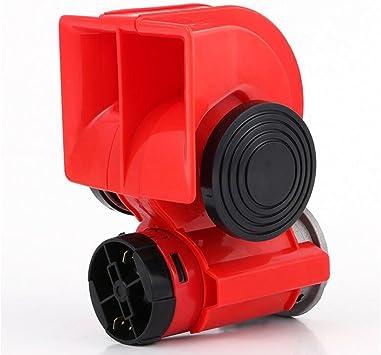 #2 Horn 125dB 12 V Clacson Fanfare aria compressa Aria Corno Tromba Ad Aria Compressa corno rosso Compressore per Truck Camion treni barche auto SUV