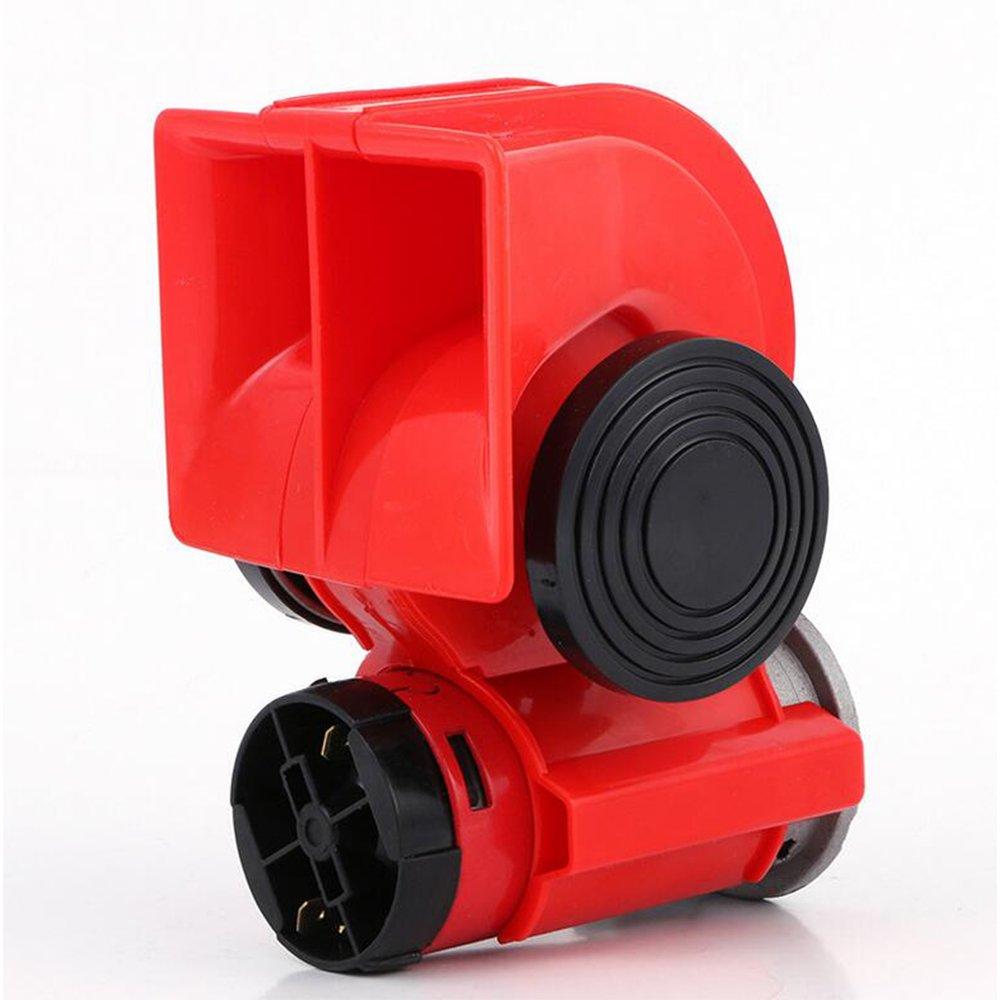 Coche Twin Tono doble Compacto Aire Alta bocina 12V 105DB Compresor Camió n rojo Camió n AUTLY