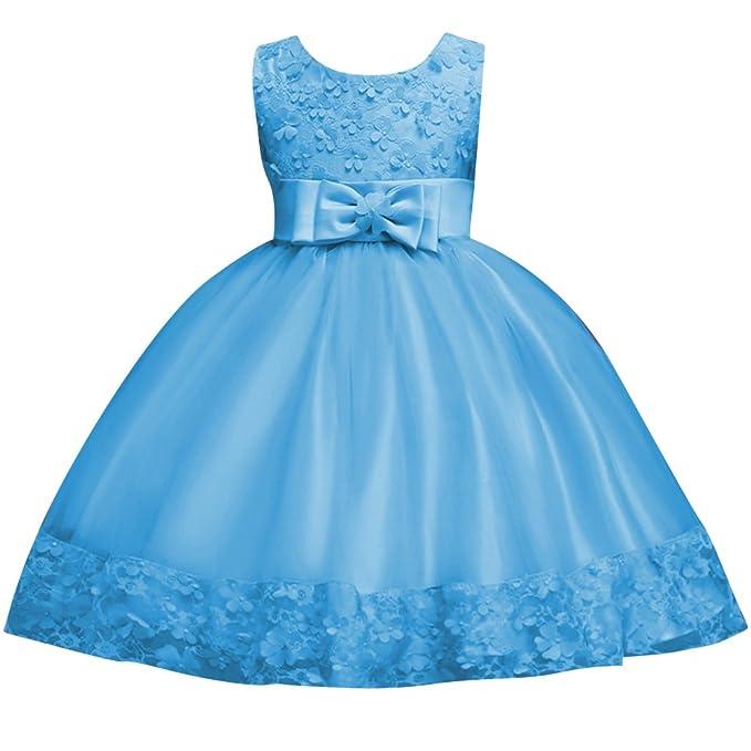 Qitun Vestido De Princesa Elegante Hilado Neto Bordado Flores Pajarita Para Niñas Bebés Infantil De Bautizo