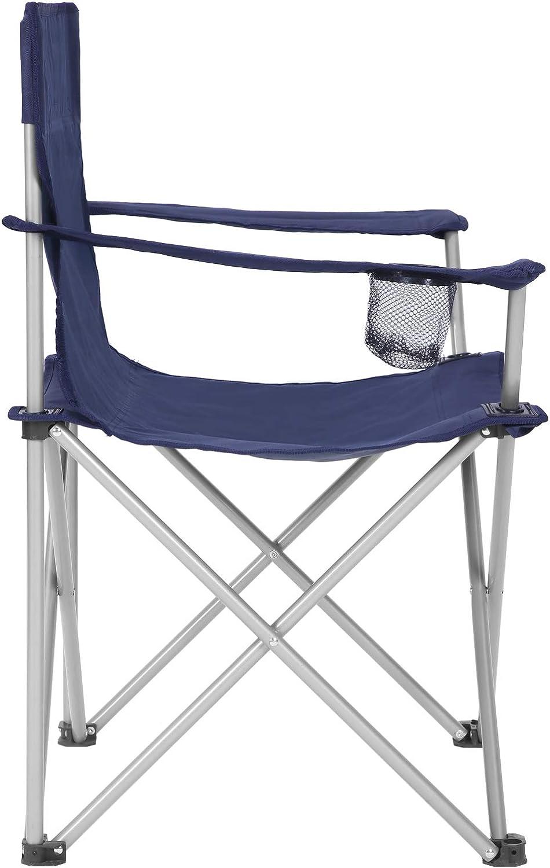 Rouge GCB01RD ext/érieur Confortable SONGMICS Lot de 2 Chaises de Camping Pliables Cadre Stable Si/èges Pliantes avec accoudoirs et Porte-gobelets capacit/é de Charge 120 kg