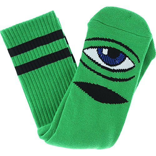 Toy Machine Sect Eye IIi Crew Socks-Kelly Green - Single Pair