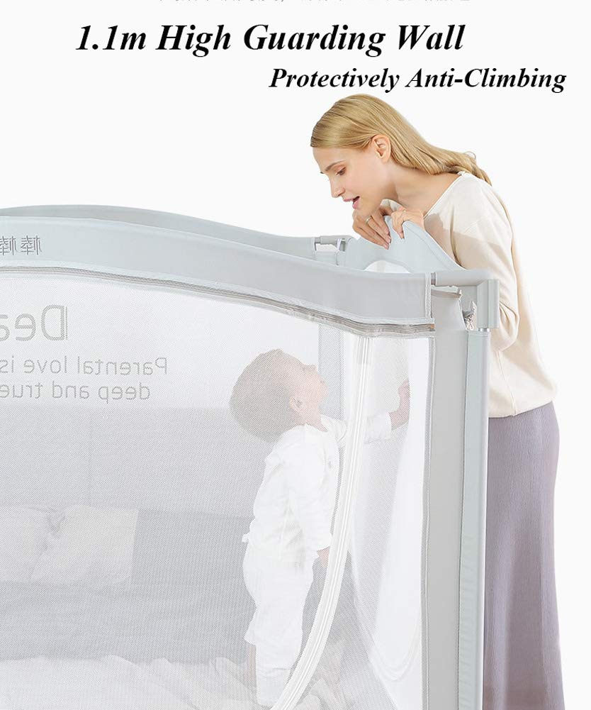 Anti-Falling Bed for Baby/Toddler/Children, Guardrail Heightening Crib, Anti-Drop Bed Guardrail, Child Shatter-Resistant Fence, Baby Bed Fence … (1.8m(70.9'') Width) by YU KEN (Image #5)