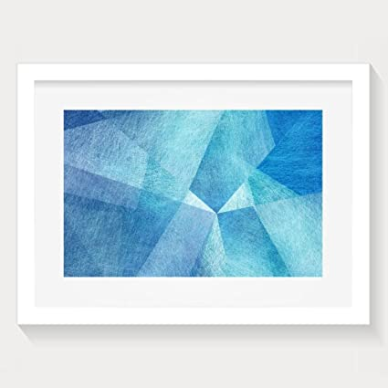 Amazon Com Yishuo Abstract Blue Background White And Sky