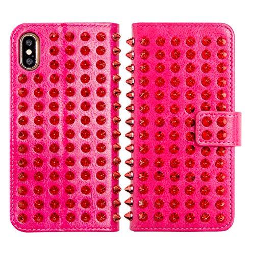犯罪クラッシュキャプテンブライスタッズ ダイアリーケース for iPhoneX (ピンク×ピンク)