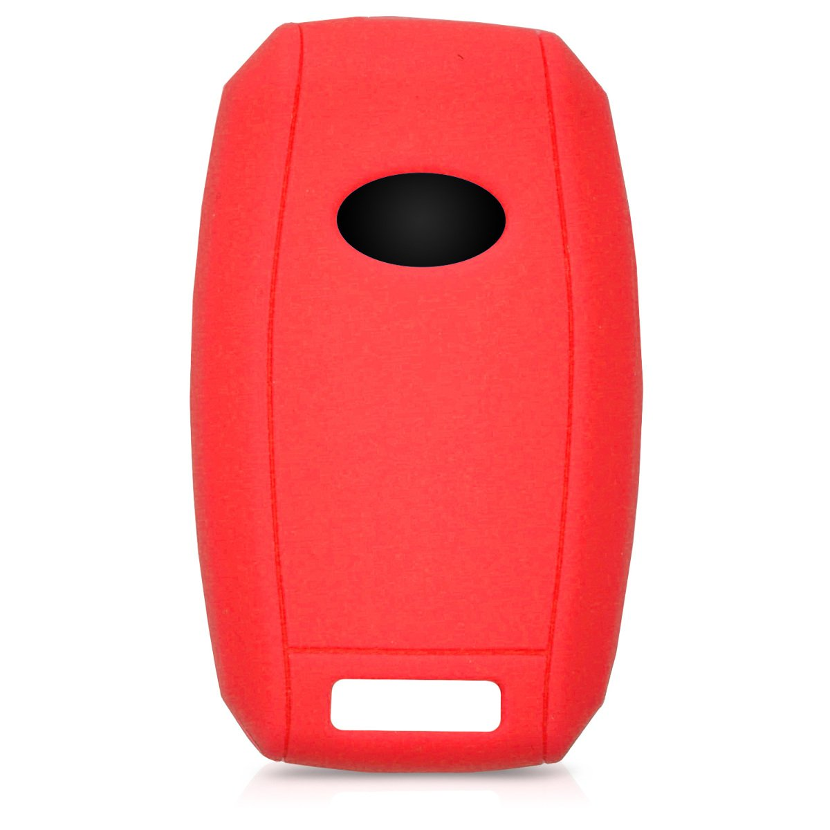Red//Black Silicone Protective Key Fob Cover for Kia 3-4 Button Car Key kwmobile Car Key Cover for Kia