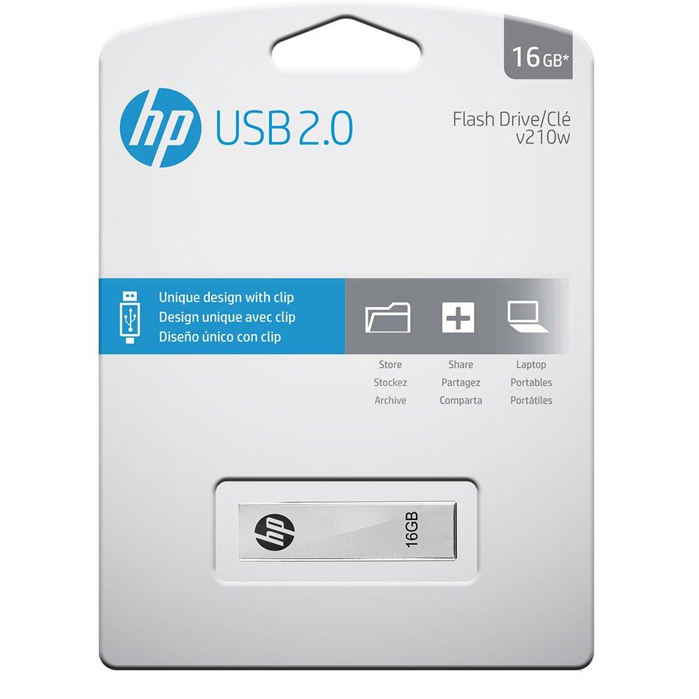 Hp V210w 16 Gb Usb Flash Drive Silver Computers Flashdisk 8gb Accessories