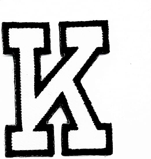 Parche con la letra K del alfabeto inglés, parche de la escuela ...