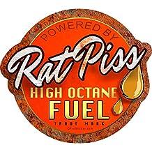 "ProSticker 756 (One) 4 X 4.5"" Rat Rod Series ""Rat Piss High Octane Fuel"" Decal Sticker"