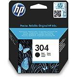 Hewlett Packard 304 - Cartucho de tinta HP adecuado para DJ3720, DJ 2630, DJ 3735, Dj 3733, color negro