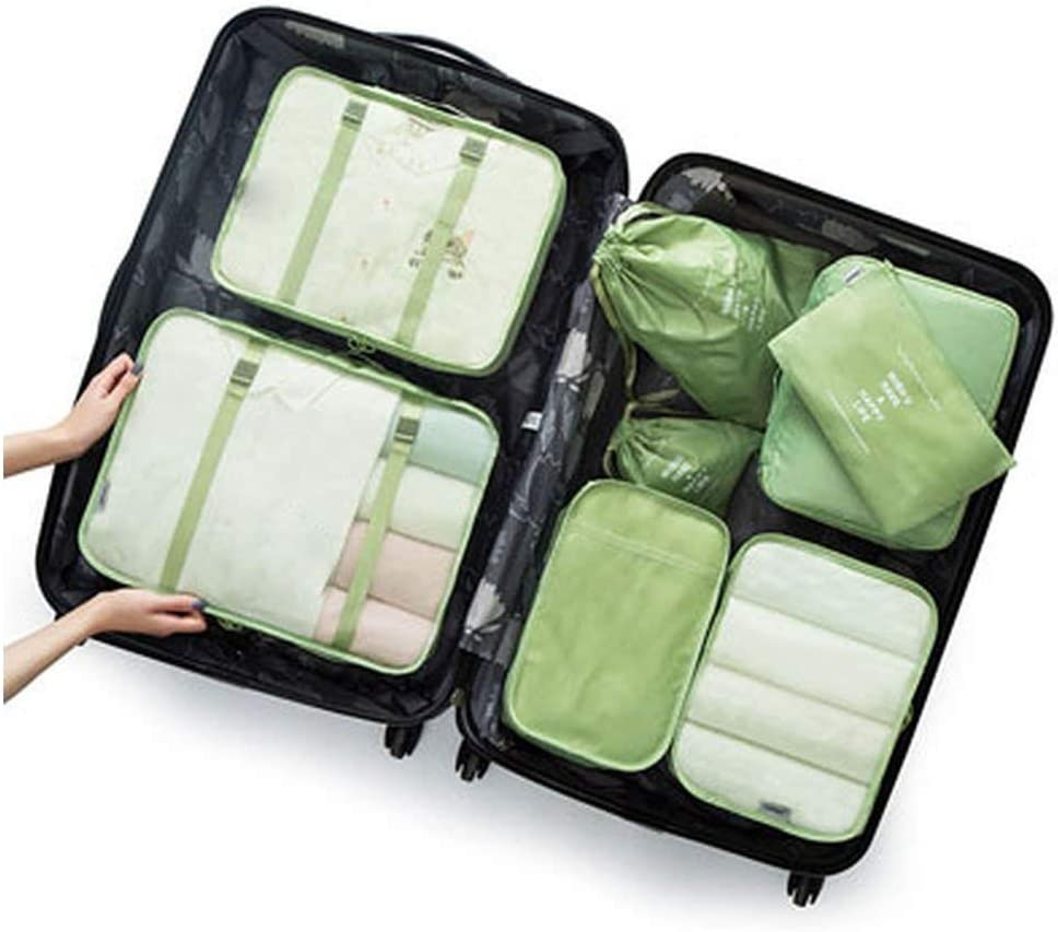 Women Travel Bag8 Pcs//Set Packing Cubes Travel Luggage Organizer Durable Polyester Travel Bags Hand Luggage Waterproof Packing Bags for Suitcase,Bear