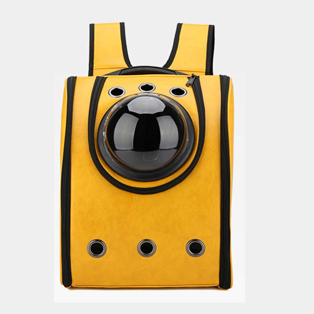 Yellow Wonder Creature Pet Carrier,Pet Space Capsule Carrier Backpack,Waterproof Travel Pet Bed for Cats and Dogs Suitable for Outdoor Travel Walking Hiking (color   Yellow)