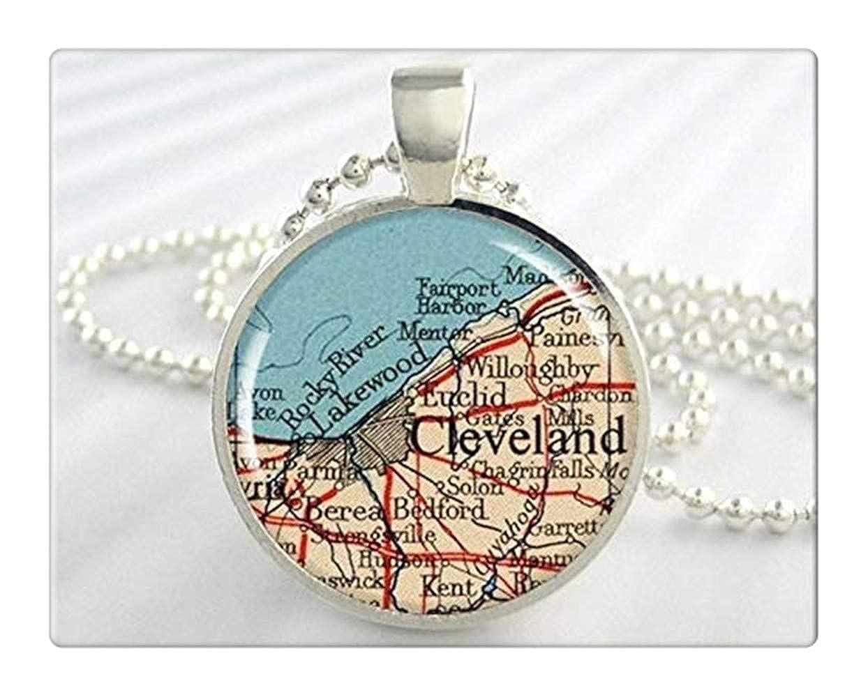 Amazon com: Cleveland Map Pendant, Resin Charm, Cleveland