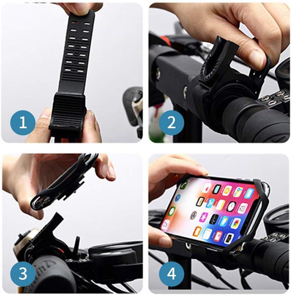 compatible con la cara y el tacto rotaci/ón universal de 360 /° Google Pixel y m/ás tel/éfonos ajustable y desmontable de silicona para iPhone Samsung Huawei Soporte movil bicicleta
