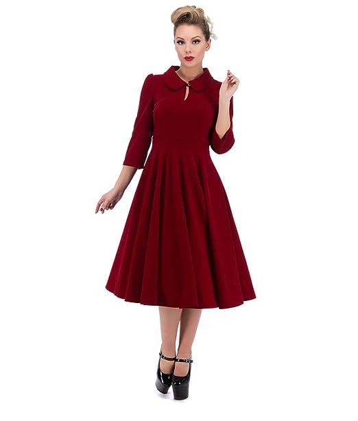 official photos d7bb8 06102 3067 H&R cuori e rose London 50's Glamorous velluto abito da tè