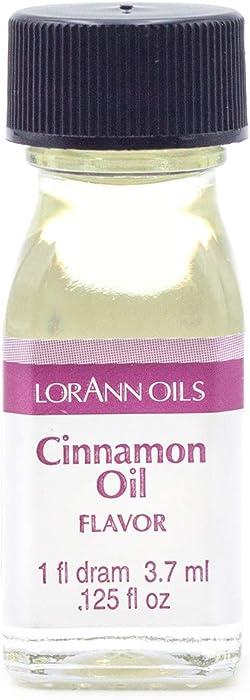 LorAnn Cinnamon Oil Super Strength Flavor, 1 dram bottle (.0125 fl oz - 3.7ml)