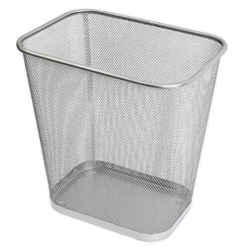 Ybmhome 2042 Steel Rectangular Mesh Trash Can, Silver ()
