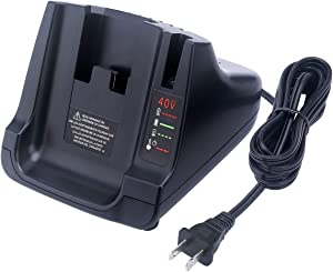 Qbmel 36/40V MAX Rapid Battery Charger for Black & Decker LCS36 Lithium Ion 36V 40 Volt LBX36 LBXR36 LBXR2036 LBX1540 LBX2040