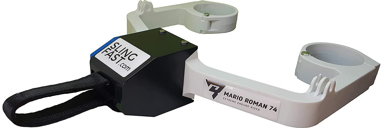 Blanc//Orange Elingue Sangle Rapide r/étractables et Automatique pour Enduro extr/émit/é Sling Fast