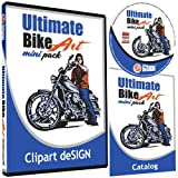Motorcycle Biker Clipart-Vinyl Cutter Plotter Clip Art Images-Sign Design Vector Art Graphics CD-ROM