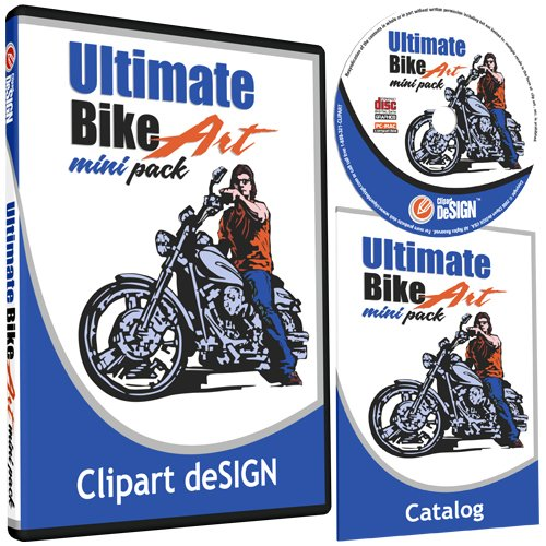 Motorcycle Biker Clipart-Vinyl Cutter Plotter Clip Art Images-Sign Design Vector Art Graphics CD-ROM from Clipart deSIGN USA
