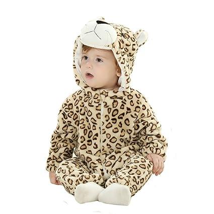 Tonwhar recién nacido niño niña leopardo animal de disfraces disfraz ...