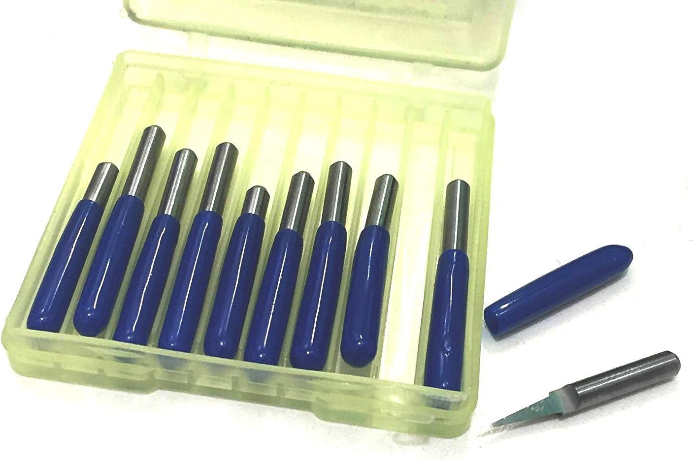 angolo di 10/° e punta di 0,1 mm confezione da 10 pezzi Fresa per incisione PCB in carburo color argento con fondo arrotondato Veda utensile per fresatura a CNC