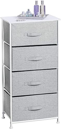 mDesign Organizer Dresser for Clothing Sweaters, Jeans, Blankets, Gray