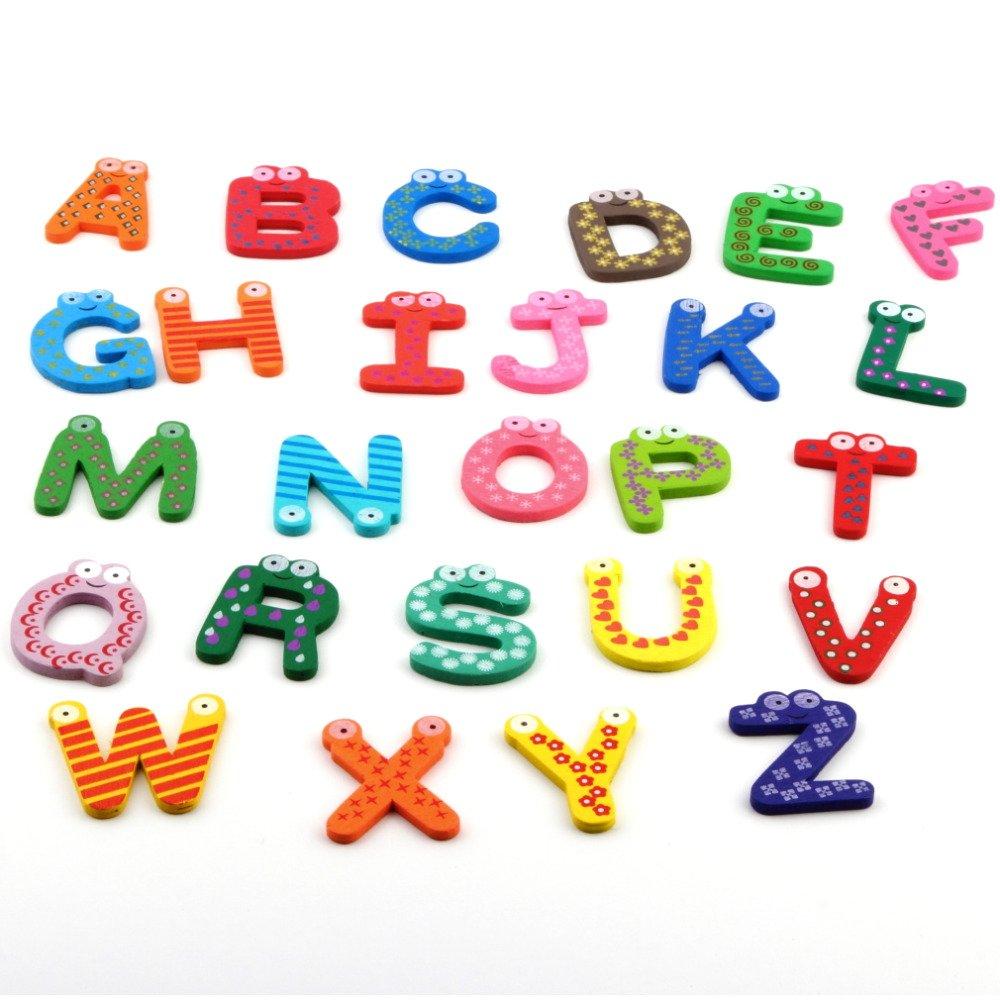 12X Baby Kids Educational Toy Wooden Magnet Kitchen Fridge Cartoon Toys