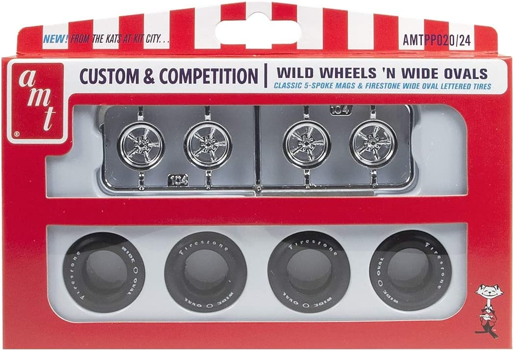 AMT 1 25 Wild Wheels & Wide Oval Parts Pack, AMTPP020