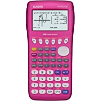 Casio fx-9750GII Graphing Calculator, Icon Based Menu, color pink