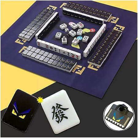 Mah Jong Negro 144 Presente Mat Bolsa Chino Tradicional Mahjong Juego de Mesa de Navidad Mahjong Tile Conjunto de Mahjong Chino Conjunto portátil tamaño Conveniente for la Mano Humana: Amazon.es: Hogar